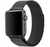 Ремешок Миланский сетчатый браслет Milanese Loop Space Black для часов Apple Watch 42mm