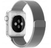 Ремешок Миланский сетчатый браслет Milanese Loop Silver для часов Apple Watch 38mm