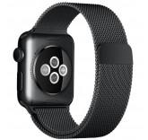 Ремешок Миланский сетчатый браслет Milanese Loop Space Black для часов Apple Watch 38mm