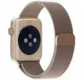 Ремешок Миланский сетчатый браслет Milanese Loop Vintage Gold для часов Apple Watch 38mm