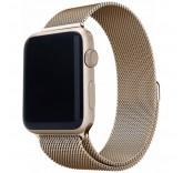 Ремешок Миланский сетчатый браслет Milanese Loop Vintage Gold для часов Apple Watch 42mm