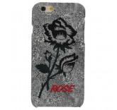Чехол бампер для iPhone 6 Plus Вышитые розы (светло-серый)
