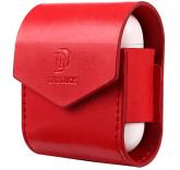 Кожаный чехол для Apple AirPods (Красный)