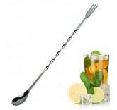 """Барная ложка для приготовления коктейлей MaxxMalus """"Largo"""" с вилкой наконечником, 24 см"""