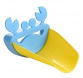 """Детская насадка - удлинитель на кран Home Comfort """"Крабик"""", цвет голубой"""