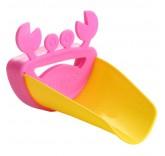 """Детская насадка - удлинитель на кран Home Comfort """"Крабик"""", цвет розовый"""