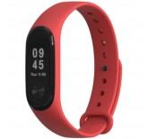 Силиконовый ремешок для Xiaomi Mi Band 3 красный (Mijobs)