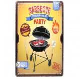 """Винтажная металлическая вывеска для интерьера Home Comfort """"Barbecue Party"""""""