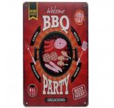 """Винтажная металлическая вывеска для интерьера Home Comfort """"BBQ Party"""""""