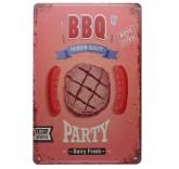 """Винтажная металлическая вывеска для интерьера Home Comfort """"Best barbecue"""""""