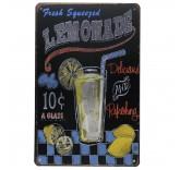 """Винтажная металлическая вывеска для интерьера Home Comfort """"Lemonade"""""""