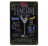 """Винтажная металлическая вывеска для интерьера Home Comfort """"Martini"""""""