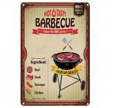 """Винтажная металлическая вывеска для интерьера Home Comfort """"Tasty barbecue"""""""