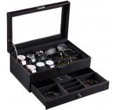 Бокс для хранения часов, очков и драгоценностей Home Comfort Carbon Box All Inclusive