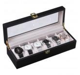 Деревянная шкатулка для хранения 6-ти часов Home Comfort Wooden Watch Box