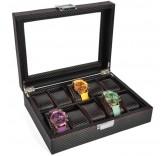 Шкатулка для хранения 10-ти часов Home Comfort Carbon Watch-Box