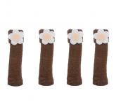 """Носки на ножки стола или стула """"Ромашка"""" 4 штуки, цвет коричневый"""