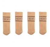 "Носки на ножки стола или стула ""Уют"" 4 штуки, цвет бежевый"