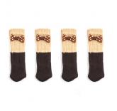 """Носки на ножки стола или стула """"Бантик"""" 4 штуки"""