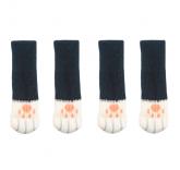 "Носки на ножки стола или стула ""Цап-царап"" 4 штуки, цвет черный"