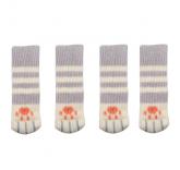 """Носки на ножки стола или стула """"Цап-царап"""", цвет серый 4 шт"""