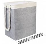 Складная корзина для белья 65 литров, цвет серый