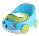 """Детский горшок """"Весёлая машинка"""", цвет голубой"""