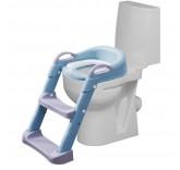 """Детское сиденье на унитаз со ступенькой """"Мамонтёнок"""", цвет голубой"""