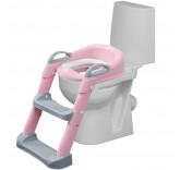 """Детское сиденье на унитаз со ступенькой """"Мамонтёнок"""", цвет розовый"""