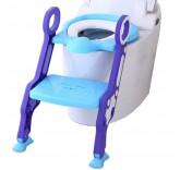 """Детское сиденье на унитаз со ступенькой """"Пингвинчик"""", цвет фиолетовый"""