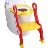 """Детское сиденье на унитаз со ступенькой """"Пингвинчик"""", цвет красный"""