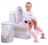 """Детское сиденье на унитаз со ступенькой """"Звездочка"""", цвет розовый"""