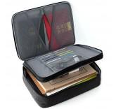 Дорожная сумка для ручной клади и документов с двойным отделением, цвет черный