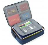 Дорожная сумка для ручной клади и документов с кодовым замком, цвет синий