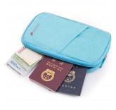 Дорожный конверт-органайзер для документов, цвет бирюзовый