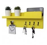 """Настенная полка для ключей Home Comfort """"Delta"""", цвет желтый"""