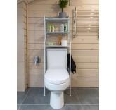 Полка стеллаж напольная 3-х ярусная Home Comfort для ванной комнаты и туалета
