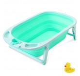 Ванночка детская складная, со сливом и термометром Home Comfort, цвет бирюзовый