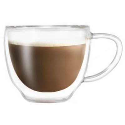 Купить Чашка с двойным стеклом Comfortable 200 ml для капучино и кофе с доставкой по России