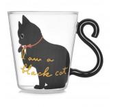 Кружка Kitty Black 300 ml для холодных и горячих напитков