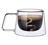 Кружка с двойным стеклом Coffee 200 ml для кофе и капучино