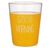 Стакан из стекла 350 ml Good Morning White