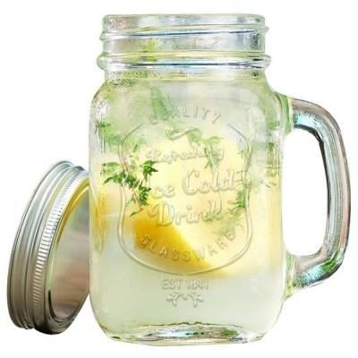 Купить Кружка банка для лимонада и смузи Ice Cold Drink Glassware 500 ml с доставкой по России