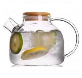 Заварочный чайник из жаропрочного боросиликатного стекла Lime Tea 1 л