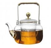Заварочный чайник из жаропрочного боросиликатного стекла Lime Tea 0,7л с ручкой
