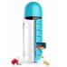 Бутылка с органайзером для таблеток PILL & VITAMIN ORGANIZER (Blue)