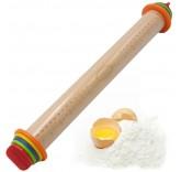 """Деревянная скалка для теста с фиксатором толщины MaxxMalus """"Rolling Pin"""""""
