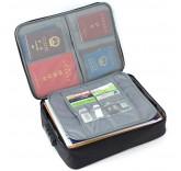 Дорожная сумка для ручной клади и документов с кодовым замком, цвет черный