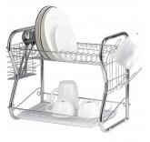"""Двухуровневая сушилка для посуды Home Comfort """"Zigzag"""", 40×23,5×34 см"""