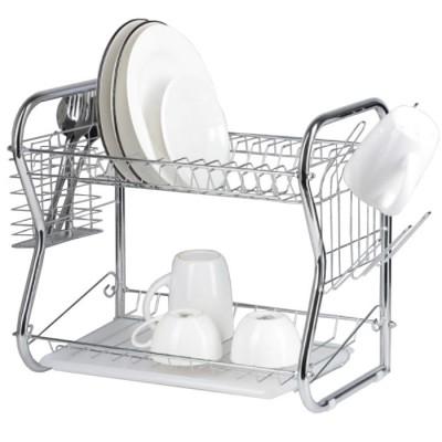 """Купить Двухуровневая сушилка для посуды Home Comfort """"Zigzag"""", 40×23,5×34 см с доставкой по России"""